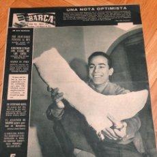 Coleccionismo deportivo: REVISTA BARÇA 269 BARCELONA 1961 LUIS SUAREZ ORIZAOLA REAL MADRID DI STEFANO. Lote 46243996