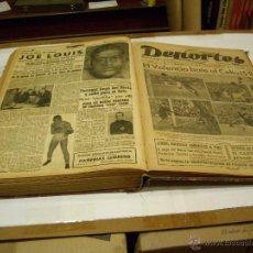 Coleccionismo deportivo: SEMANARIO DEPORTES; VALENCIA 1945. Lote 46266614