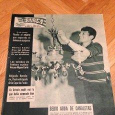 REVISTA BARÇA 201 BARCELONA 1959 BELGRADO FINAL ANTICIPADA COPA FERIAS RUAÑO GAINZA CALOS MEDRANO
