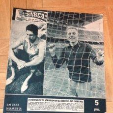 Coleccionismo deportivo: REVISTA BARÇA 313 BARCELONA 1961 DJURGARDENS CELDRAN LEIF ERIKSSON. Lote 46286035