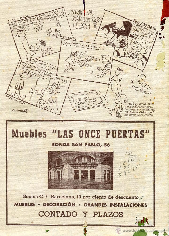 Coleccionismo deportivo: CLUB DE FUTBOL BARCELONA INFORMACION 7 MES DE ENERO 1955 LEER DESCRIPCION - Foto 3 - 46319767