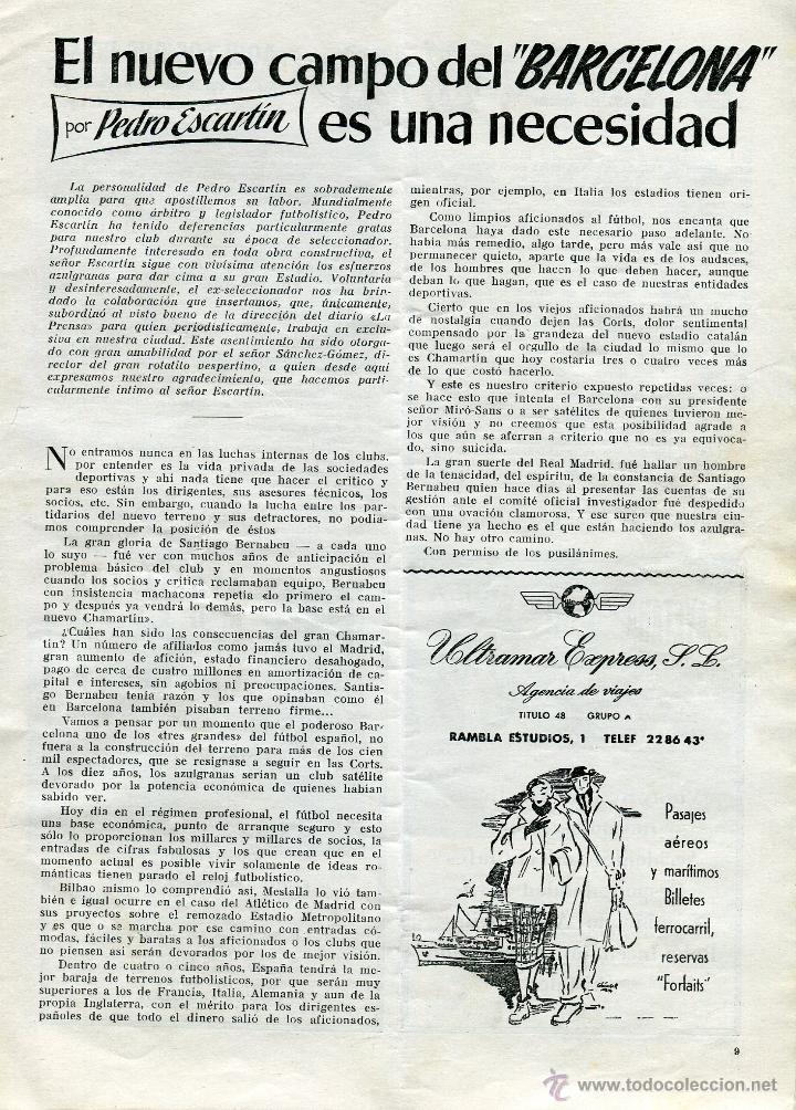 Coleccionismo deportivo: CLUB DE FUTBOL BARCELONA INFORMACION 7 MES DE ENERO 1955 LEER DESCRIPCION - Foto 4 - 46319767
