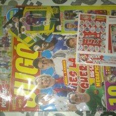 Coleccionismo deportivo: REVISTA JUGON Nº95 PRECINTADA INCLUYE 2 CROMOS CONMEMORATIVOS 14/15 2 EDICIONES ESPECIALE MEGACRACKS. Lote 46375085