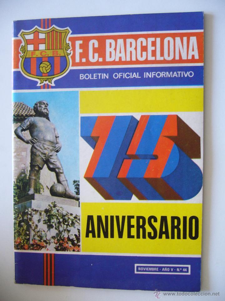 REVISTA DEPORTIVA. F.C. BARCELONA. 75 ANIVERSARIO. NOVIEMBRE. AÑO V. Nº 44. (Coleccionismo Deportivo - Revistas y Periódicos - otros Fútbol)