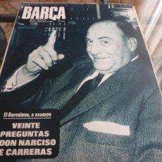 Collezionismo sportivo: BARÇA Nº:714(23-7-69) CON JOSE MANUEL LARA,LA PEÑA 5 COPAS Y EL C.D.SAN ANDRÉS-FOTOS. Lote 46611188