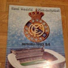 Coleccionismo deportivo: MEMORIA REAL MADRID 1983 1984 MIGUEL ANGEL LA QUINTA DEL BUITRE SANCHIS MARTIN VAZQUEZ CAMACHO. Lote 46655483