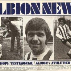 Coleccionismo deportivo: PROGRAMA OFICIAL PARTIDO AMISTOSO -WEST BROMWICH ALBION (INGLATERRA) - ATHLETIC BILBAO, 21/04/1971. Lote 46863269
