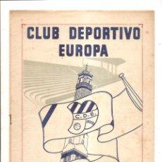 Coleccionismo deportivo: NOTICIARIO-CIRCULAR CLUB DEPORTIVO EUROPA – TEMPORADA 1959-60 Nº 1. Lote 46976695