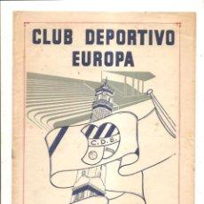 Coleccionismo deportivo: NOTICIARIO-CIRCULAR CLUB DEPORTIVO EUROPA – TEMPORADA 1959-60 Nº 2. Lote 46976763