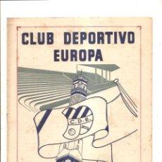 Coleccionismo deportivo: NOTICIARIO-CIRCULAR CLUB DEPORTIVO EUROPA – TEMPORADA 1959-60 Nº 4. Lote 46976779