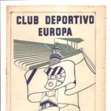 Coleccionismo deportivo: NOTICIARIO-CIRCULAR CLUB DEPORTIVO EUROPA – TEMPORADA 1959-60 Nº 5. Lote 46976808