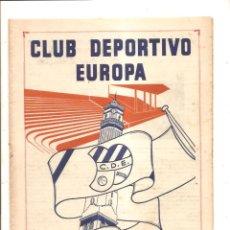 Coleccionismo deportivo: NOTICIARIO-CIRCULAR CLUB DEPORTIVO EUROPA – TEMPORADA 1959-60 Nº 6. Lote 46976854