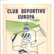 Coleccionismo deportivo: NOTICIARIO-CIRCULAR CLUB DEPORTIVO EUROPA – TEMPORADA 1959-60 Nº 7. Lote 46976871