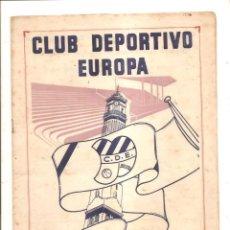 Coleccionismo deportivo: NOTICIARIO-CIRCULAR CLUB DEPORTIVO EUROPA – TEMPORADA 1959-60 Nº 8. Lote 46976892