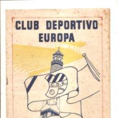Coleccionismo deportivo: NOTICIARIO-CIRCULAR CLUB DEPORTIVO EUROPA – TEMPORADA 1959-60 Nº 9. Lote 46976938
