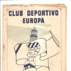 Coleccionismo deportivo: NOTICIARIO-CIRCULAR CLUB DEPORTIVO EUROPA – TEMPORADA 1959-60 Nº 10. Lote 46976953