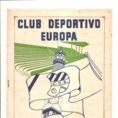 Coleccionismo deportivo: NOTICIARIO-CIRCULAR CLUB DEPORTIVO EUROPA – TEMPORADA 1959-60 Nº 16. Lote 46976981