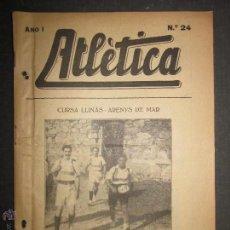 Coleccionismo deportivo: ATLETICA - REVISTA DEPORTIVA QUINCENAL -PUBLICADA EN BARCELONA NUM 24 - AÑO 1917 - (CD- 1307 ). Lote 47110363