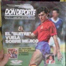 Coleccionismo deportivo: DON DEPORTE -- EL BUITRE VUELA SOBRE MEJICO --1986. Lote 47403777