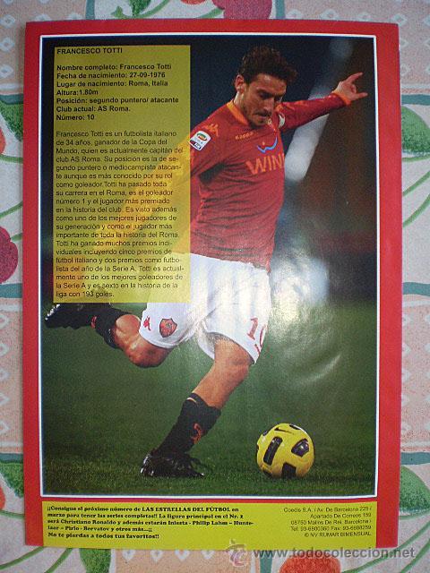 Coleccionismo deportivo: Lote 4 mega póster Top Estrellas del Fútbol Nº 1, 2, 3, 4 (Messi, Cristiano Ronaldo, Iniesta...) - Foto 3 - 47578172