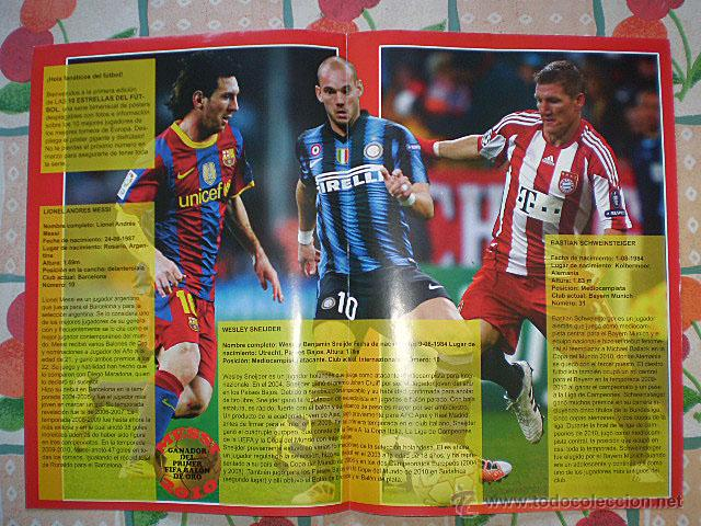 Coleccionismo deportivo: Lote 4 mega póster Top Estrellas del Fútbol Nº 1, 2, 3, 4 (Messi, Cristiano Ronaldo, Iniesta...) - Foto 4 - 47578172