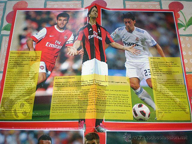 Coleccionismo deportivo: Lote 4 mega póster Top Estrellas del Fútbol Nº 1, 2, 3, 4 (Messi, Cristiano Ronaldo, Iniesta...) - Foto 5 - 47578172