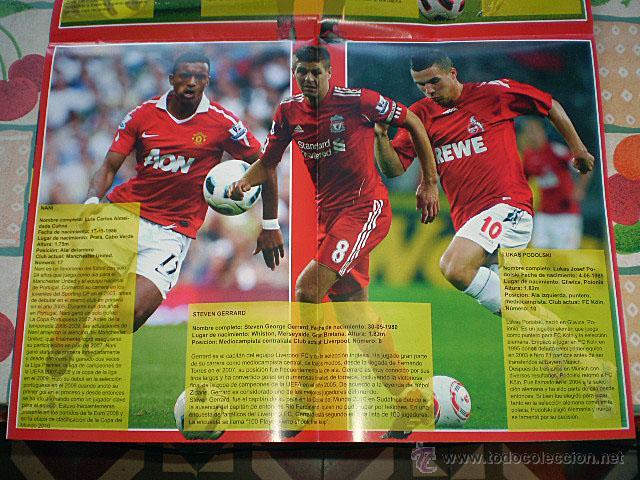 Coleccionismo deportivo: Lote 4 mega póster Top Estrellas del Fútbol Nº 1, 2, 3, 4 (Messi, Cristiano Ronaldo, Iniesta...) - Foto 6 - 47578172