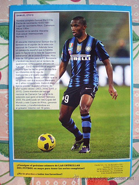 Coleccionismo deportivo: Lote 4 mega póster Top Estrellas del Fútbol Nº 1, 2, 3, 4 (Messi, Cristiano Ronaldo, Iniesta...) - Foto 12 - 47578172