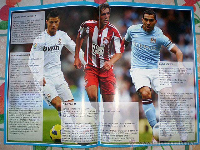 Coleccionismo deportivo: Lote 4 mega póster Top Estrellas del Fútbol Nº 1, 2, 3, 4 (Messi, Cristiano Ronaldo, Iniesta...) - Foto 13 - 47578172