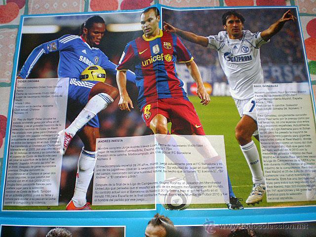 Coleccionismo deportivo: Lote 4 mega póster Top Estrellas del Fútbol Nº 1, 2, 3, 4 (Messi, Cristiano Ronaldo, Iniesta...) - Foto 14 - 47578172