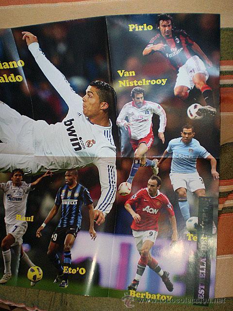 Coleccionismo deportivo: Lote 4 mega póster Top Estrellas del Fútbol Nº 1, 2, 3, 4 (Messi, Cristiano Ronaldo, Iniesta...) - Foto 18 - 47578172