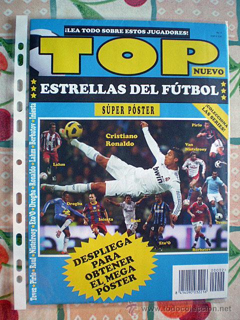 Coleccionismo deportivo: Lote 4 mega póster Top Estrellas del Fútbol Nº 1, 2, 3, 4 (Messi, Cristiano Ronaldo, Iniesta...) - Foto 19 - 47578172