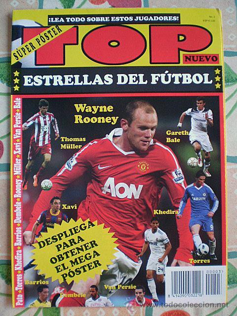 Coleccionismo deportivo: Lote 4 mega póster Top Estrellas del Fútbol Nº 1, 2, 3, 4 (Messi, Cristiano Ronaldo, Iniesta...) - Foto 20 - 47578172