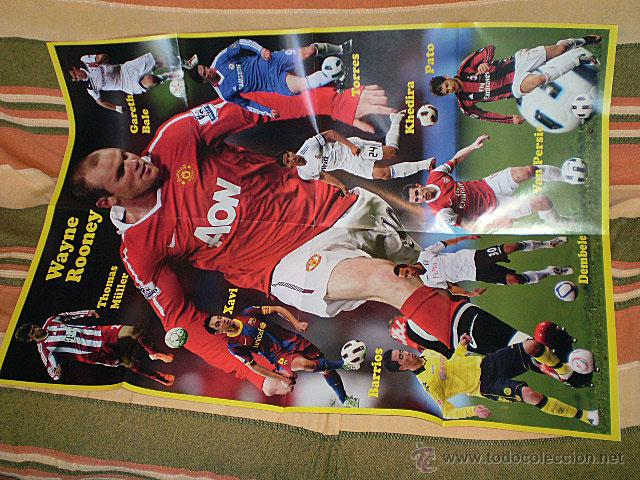 Coleccionismo deportivo: Lote 4 mega póster Top Estrellas del Fútbol Nº 1, 2, 3, 4 (Messi, Cristiano Ronaldo, Iniesta...) - Foto 25 - 47578172