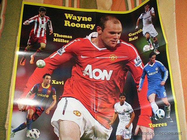 Coleccionismo deportivo: Lote 4 mega póster Top Estrellas del Fútbol Nº 1, 2, 3, 4 (Messi, Cristiano Ronaldo, Iniesta...) - Foto 26 - 47578172