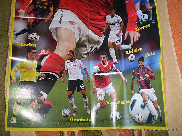 Coleccionismo deportivo: Lote 4 mega póster Top Estrellas del Fútbol Nº 1, 2, 3, 4 (Messi, Cristiano Ronaldo, Iniesta...) - Foto 27 - 47578172