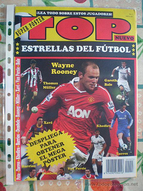Coleccionismo deportivo: Lote 4 mega póster Top Estrellas del Fútbol Nº 1, 2, 3, 4 (Messi, Cristiano Ronaldo, Iniesta...) - Foto 28 - 47578172