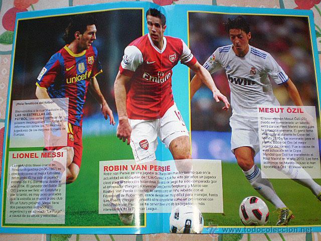Coleccionismo deportivo: Lote 4 mega póster Top Estrellas del Fútbol Nº 1, 2, 3, 4 (Messi, Cristiano Ronaldo, Iniesta...) - Foto 31 - 47578172