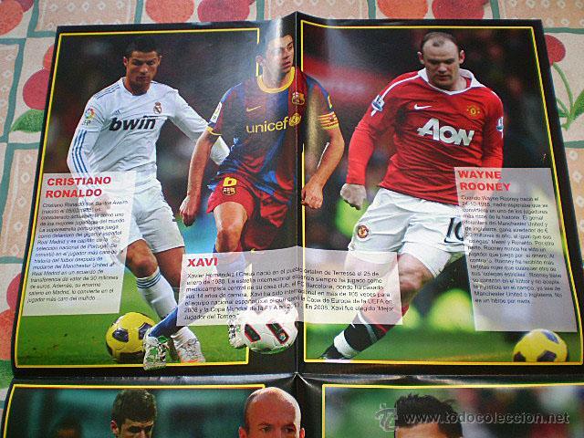 Coleccionismo deportivo: Lote 4 mega póster Top Estrellas del Fútbol Nº 1, 2, 3, 4 (Messi, Cristiano Ronaldo, Iniesta...) - Foto 32 - 47578172