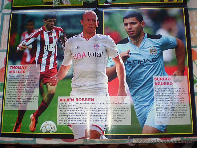 Coleccionismo deportivo: Lote 4 mega póster Top Estrellas del Fútbol Nº 1, 2, 3, 4 (Messi, Cristiano Ronaldo, Iniesta...) - Foto 33 - 47578172