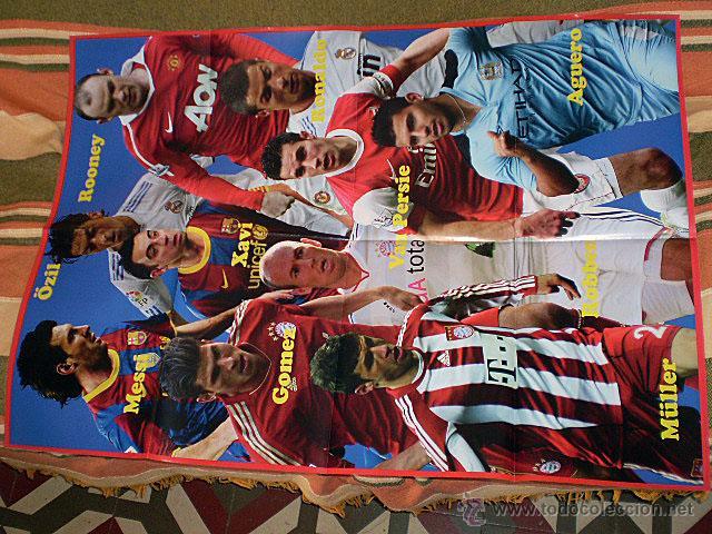Coleccionismo deportivo: Lote 4 mega póster Top Estrellas del Fútbol Nº 1, 2, 3, 4 (Messi, Cristiano Ronaldo, Iniesta...) - Foto 34 - 47578172