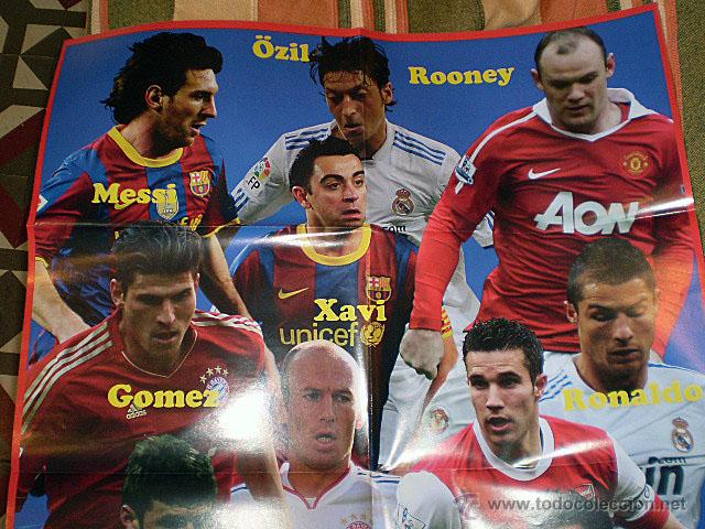Coleccionismo deportivo: Lote 4 mega póster Top Estrellas del Fútbol Nº 1, 2, 3, 4 (Messi, Cristiano Ronaldo, Iniesta...) - Foto 35 - 47578172