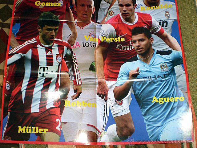 Coleccionismo deportivo: Lote 4 mega póster Top Estrellas del Fútbol Nº 1, 2, 3, 4 (Messi, Cristiano Ronaldo, Iniesta...) - Foto 36 - 47578172