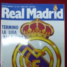 Coleccionismo deportivo: REVISTA REAL MADRID Nº 36 - JUNIO AÑO 1992. Lote 47581937