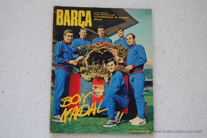 REVISTA BARÇA EXTRAORDINARIO DE NAVIDAD 1968 (Coleccionismo Deportivo - Revistas y Periódicos - otros Fútbol)