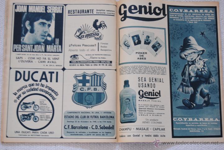 Coleccionismo deportivo: REVISTA BARÇA EXTRAORDINARIO DE NAVIDAD 1968 - Foto 4 - 47633779