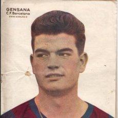 Coleccionismo deportivo: REVISTA DEPORTIVA FÚTBOL DICEN... Nº 220 1956 GENSANA F.C. BARCELONA EN PORTADA . Lote 47767477
