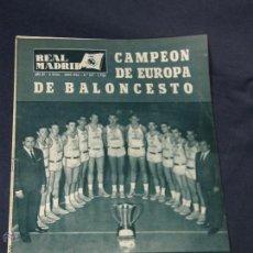 Coleccionismo deportivo: LOTE ANTIGUAS REVISTAS DEL REAL MADRID Nº 154 158 162 164 166 168 169 172 173. Lote 47848239