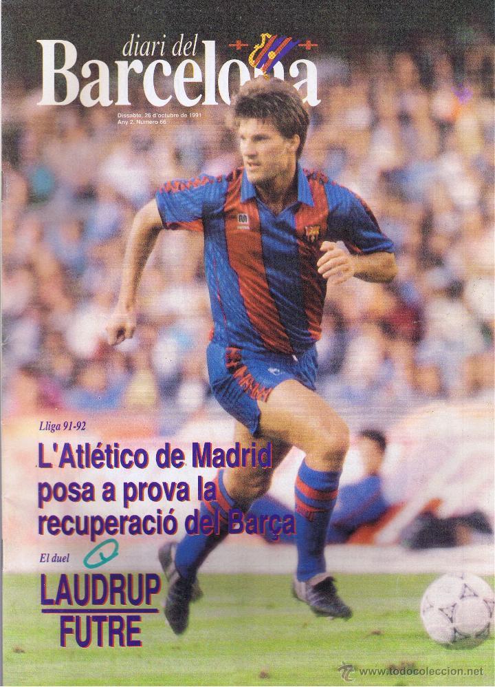 DIARI DEL BARCELONA - Nº 66 - 1991 - POSTER CENTRAL BEGIRISTAIN (Coleccionismo Deportivo - Revistas y Periódicos - otros Fútbol)