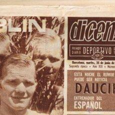 Coleccionismo deportivo: DIARIO DEPORTIVO DICEN Nº 1668 - 16 JUNIO 1970. Lote 48333871